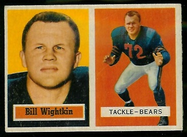 1957 Topps #130 - Bill Wightkin - ex
