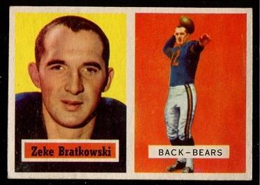 1957 Topps #140 - Zeke Bratkowski - exmt