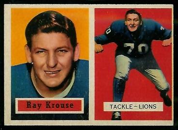 1957 Topps #141 - Ray Krouse - ex