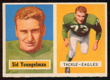 1957 Topps #145 - Sid Youngelman - vg