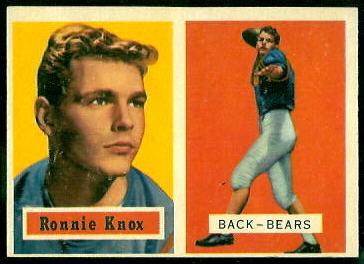 1957 Topps #149 - Ronnie Knox - ex