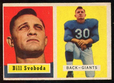 1957 Topps #153 - Bill Svoboda - ex