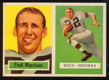 1957 Topps #154 - Fred Morrison - ex
