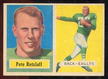 1957 Topps #2 - Pete Retzlaff - ex