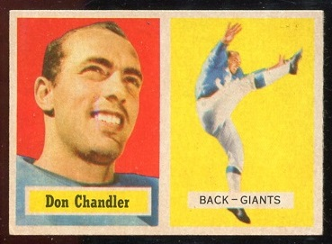 1957 Topps #23 - Don Chandler - ex