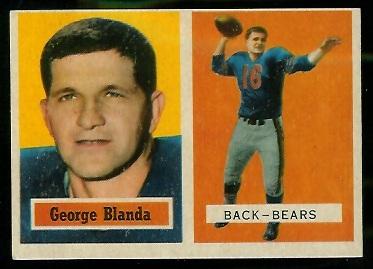 1957 Topps #31 - George Blanda - ex