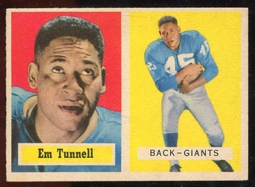 1957 Topps #35 - Emlen Tunnell - nm-mt st