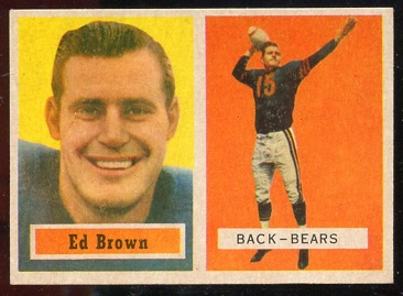 1957 Topps #43 - Ed Brown - ex