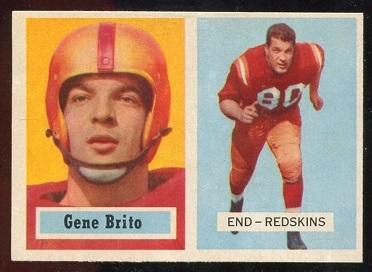 1957 Topps #48 - Gene Brito - exmt