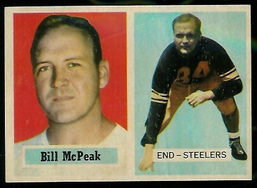 1957 Topps #51 - Bill McPeak - exmt