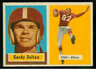 1957 Topps #54 - Gordon Soltau - nm