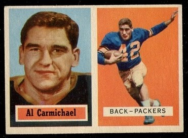1957 Topps #57 - Al Carmichael - exmt