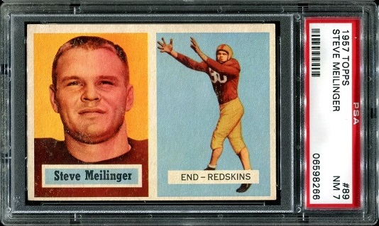 1957 Topps #89 - Steve Meilinger - PSA 7