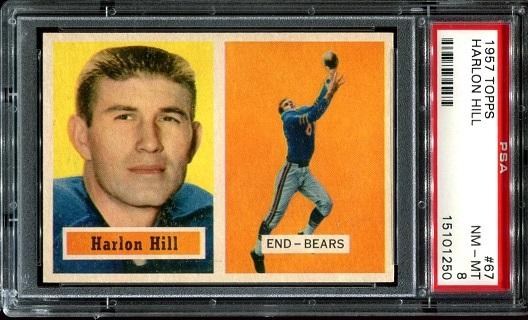 1957 Topps #67 - Harlon Hill - PSA 8