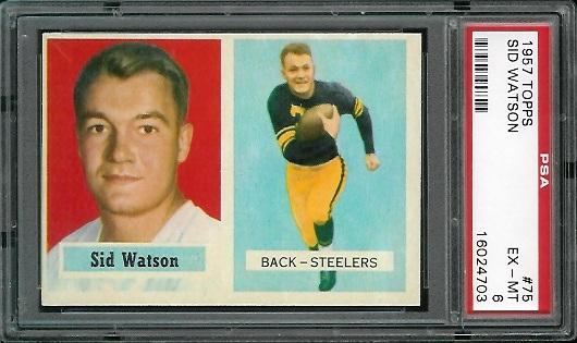 1957 Topps #75 - Sid Watson - PSA 6