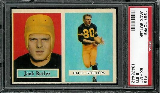 1957 Topps #15 - Jack Butler - PSA 6 st