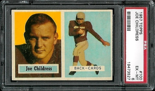 1957 Topps #100 - Joe Childress - PSA 6