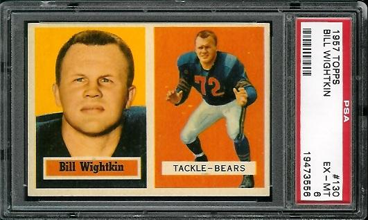 1957 Topps #130 - Bill Wightkin - PSA 6