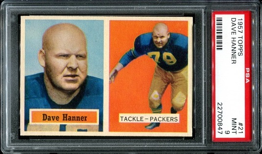 1957 Topps #21 - Dave Hanner - PSA 9