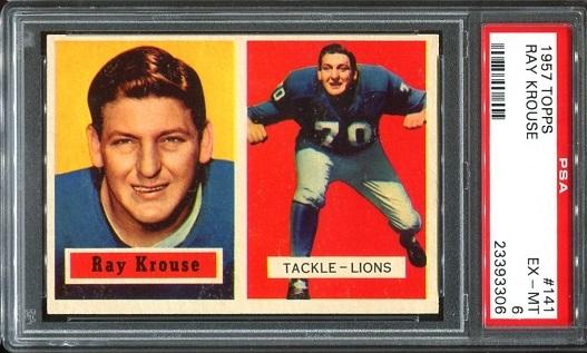 1957 Topps #141 - Ray Krouse - PSA 6