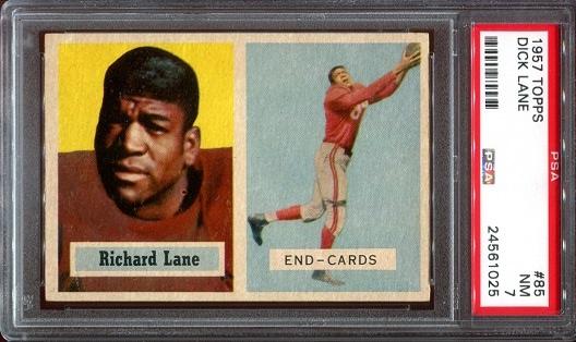 1957 Topps #85 - Dick Lane - PSA 7