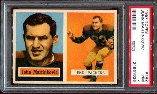 1957 Topps #142 - John Martinkovic - PSA 7