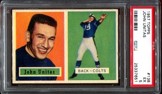 1957 Topps #138 - John Unitas - PSA 5