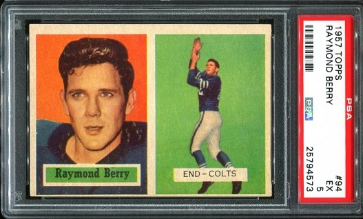 1957 Topps #94 - Raymond Berry - PSA 5