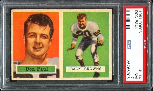 1957 Topps #114 - Don Paul - PSA 7