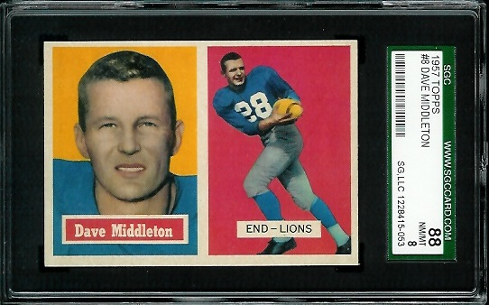 1957 Topps #8 - Dave Middleton - SGC 88
