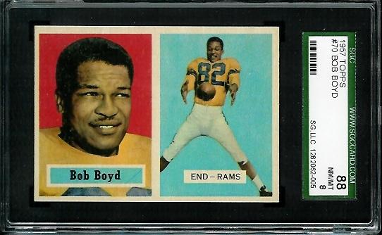 1957 Topps #70 - Bob Boyd - SGC 88