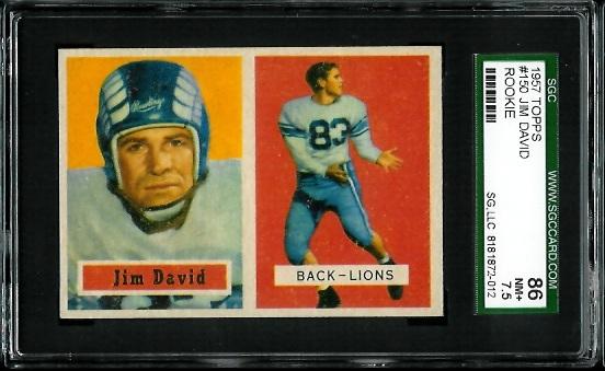 1957 Topps #150 - Jim David - SGC 86