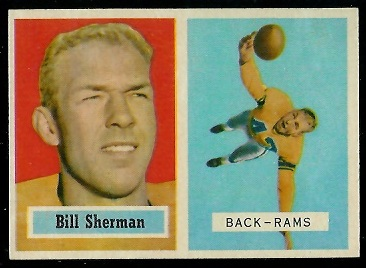1957 Topps #58cor - Will Sherman - nm+