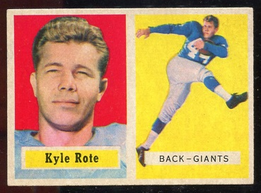 1957 Topps #59 - Kyle Rote - exmt+