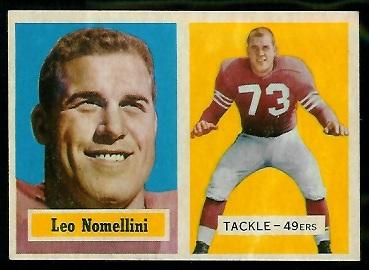 1957 Topps #6 - Leo Nomellini - nm