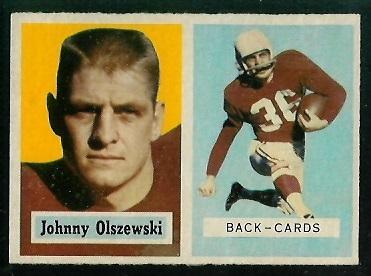 1957 Topps #62 - John Olszewski - exmt