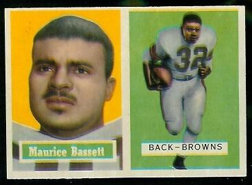 1957 Topps #64 - Maurice Bassett - exmt