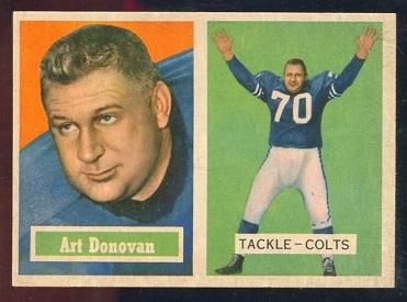 1957 Topps #65 - Art Donovan - nm