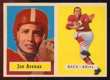 1957 Topps #66 - Joe Arenas - exmt