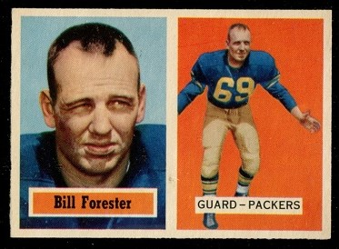 1957 Topps #69 - Bill Forester - exmt