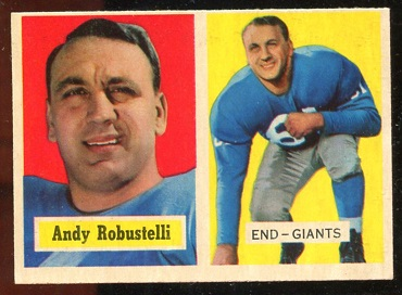 1957 Topps #71 - Andy Robustelli - nm+ oc