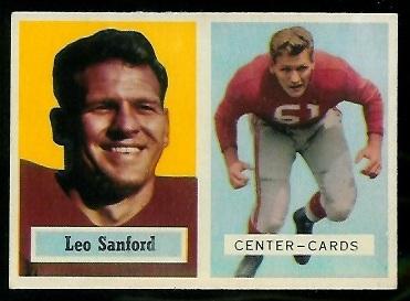 1957 Topps #74 - Leo Sanford - ex