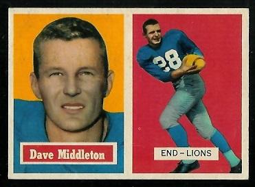 1957 Topps #8 - Dave Middleton - exmt