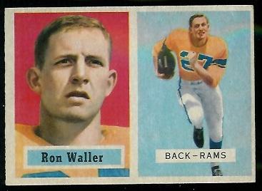 1957 Topps #82 - Ron Waller - exmt