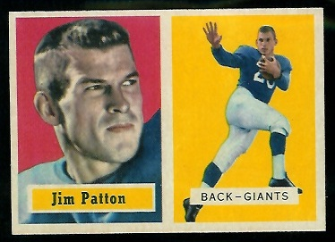 1957 Topps #83 - Jim Patton - nm