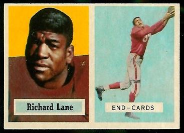 1957 Topps #85 - Dick Lane - exmt