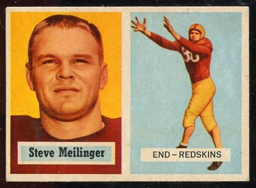 1957 Topps #89 - Steve Meilinger - exmt
