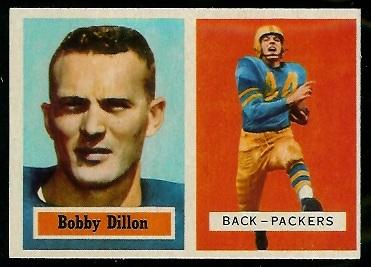 1957 Topps #9 - Bobby Dillon - nm oc