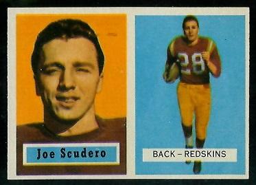 1957 Topps #98 - Joe Scudero - exmt