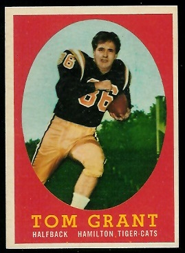 1958 Topps CFL #15 - Tommy Grant - exmt